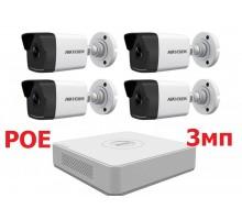 Комплект IP POE Hikvision 3мп