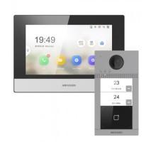 Комплект монитор + вызывная панель Hikvision DS-KV8213-WME1