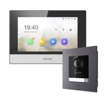 Комплект монитор  + вызывная панель Hikvision DS-KD8003-IME1/Flush