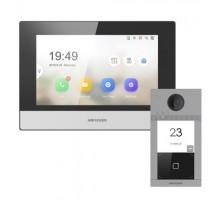 Комплект монитор + вызывная панель Hikvision DS-KV8113-WME1