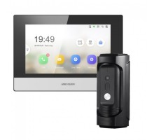 Комплект монитор + вызывная панель Hikvision  DS-KB8112-IM