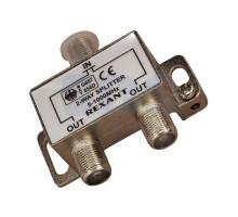 Делитель (сплиттер) ТВ сигнала 1 вход / 2 выхода